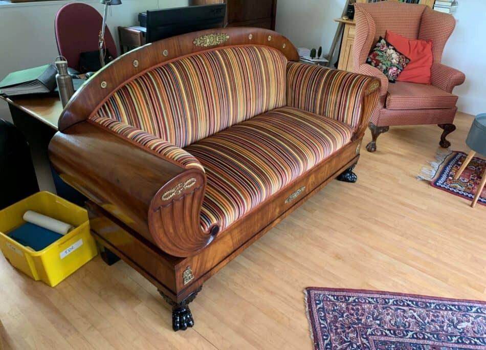 Autumnal Beidermeier Sofa | Reupholstery Company | John Reed & Son