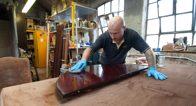 Traditional French Polishing | Furniture Restorers | John Reed & Son